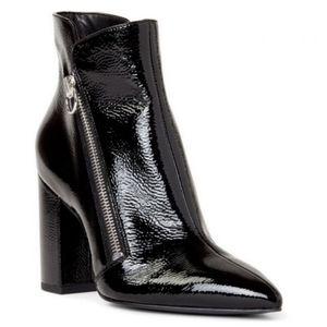 Nine West Russity Block Heel Ankle Boots, Black Pa